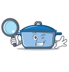 Detective kitchen character cartoon style vector