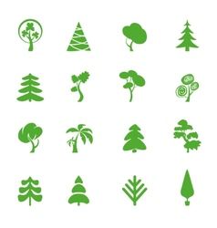 Green leaf icons set Nature ecology image vector image vector image