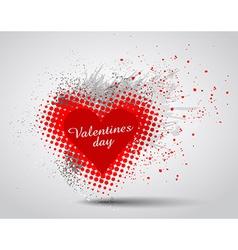 Grunge Valentines Day hart background vector image