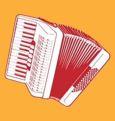 retro accordion vector image vector image