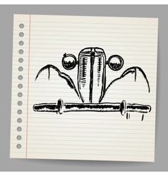 Scribble car vector image vector image