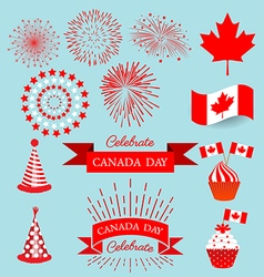 Set design elements for celebrate the national day vector image vector image