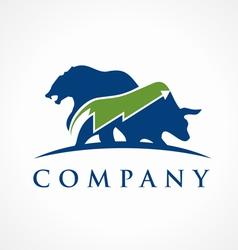 trading logo vector image vector image