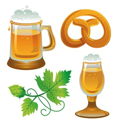 Beer set Collections for Oktoberfest vector image