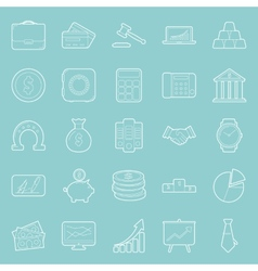 Bisiness and finance thin lines icons set vector image vector image