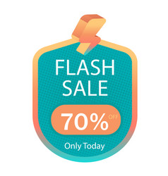 Flash sale 70 off only today image vector