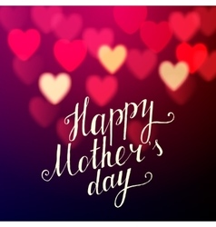 Happy Mothers Day background vector image vector image