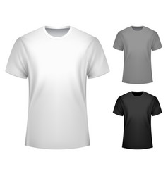 men t-shirt template vector image