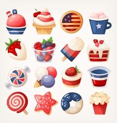 Refreshing summer desserts vector