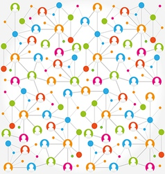 Social network internet chat community vector image vector image