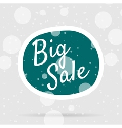 Christmas big Sale Bubble on Snow Background vector image vector image