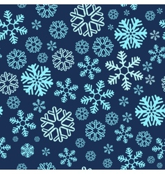 Christmas blue snowy abstract background vector image vector image