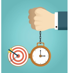Deadline and successfully completed work vector image vector image