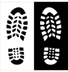 Footprint Eco vector image