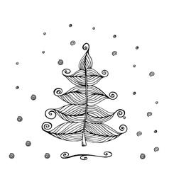Hand Drawn Beautiful christmas tree vector image vector image