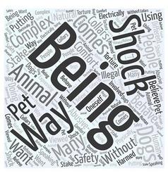 shock collar Word Cloud Concept vector image vector image