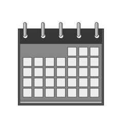 silhouette with calendar days blank vector image vector image