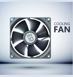 realistic computer cooler vector image
