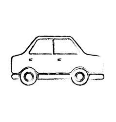 sedan car side vehicle transport concept vector image