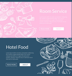 web banner templates restaurant or room vector image vector image