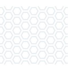 Abstract hexagonal white netting vector