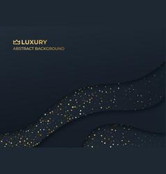 abstract luxury elegant black background vector image