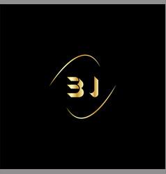 B j letter logo creative design on black color vector