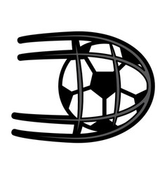 Ball shooting into net football soccer icon image vector