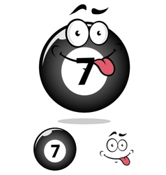 Billiard ball seven in cartoon format vector