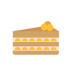 Birthday cake slice poster vector