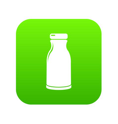 bottle shampoo icon green vector image