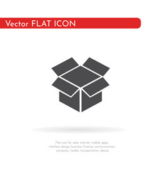 box hand icon for web business finance and vector image