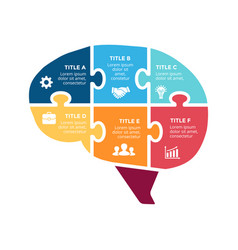 Brain infographic template for human head vector