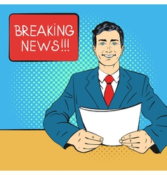 Breaking news pop art vector