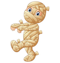 Cartoon mummy walking vector