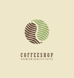 coffee shop logo design idea vector image