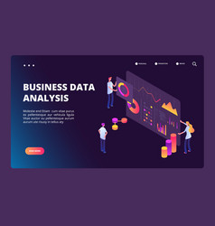data optimization isometric concept person with vector image