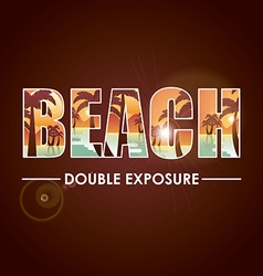 doble exposure vector image