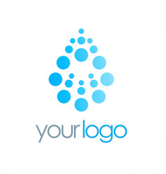 Dot water drop logo vector