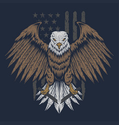 eagle usa flag vector image