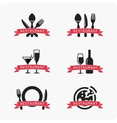 Emblem for restaurant vector image