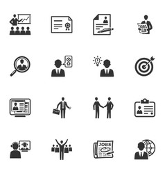 Employment and business icons vector