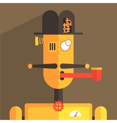 English Gentleman Robot Character vector
