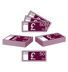 English pound vector image
