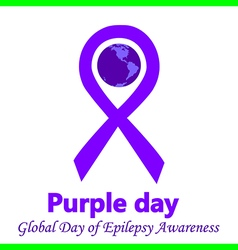 Epilepsy purple day vector