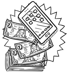 Expensive phone vector