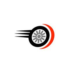 fast tire logo vector image