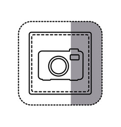 figure emblem sticker camera icon vector image