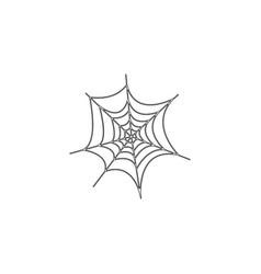 halloween spider web flat icon vector image