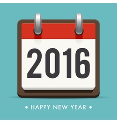 happy new year 2016 card calendar vector image